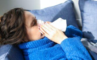 przeziębiona